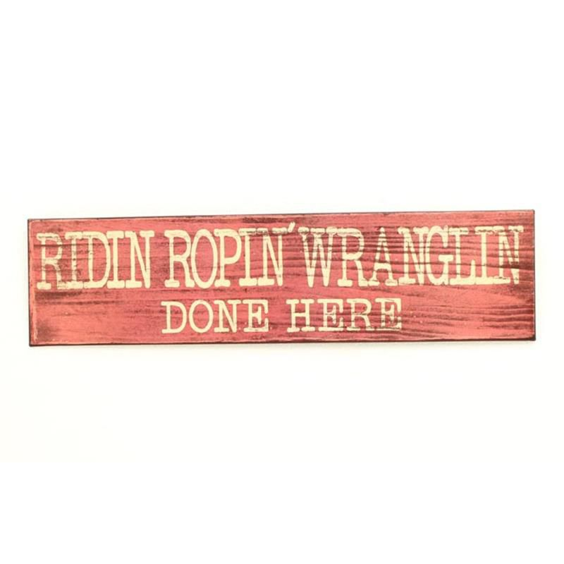 M&F® Wranglin Metal Sign