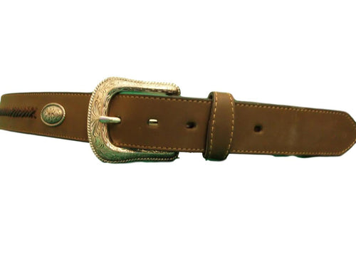 G Bar D Men's Brown Belt W/Braid