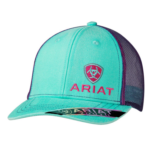 Ariat Youth Teal & Purple Cap