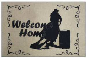 Welcome Home Barrel Racer Mat