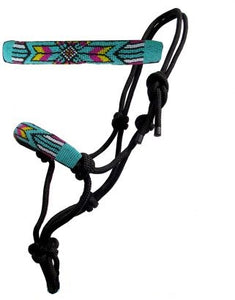 Beaded Nose Cowboy Knot Rope Halter