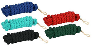 10' Cotton lead rope w/brass snap