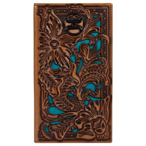 Hooey Teal Inlay Rodeo Wallet 2041566W6