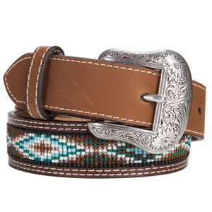Kids Brown & Blue Beaded Belt