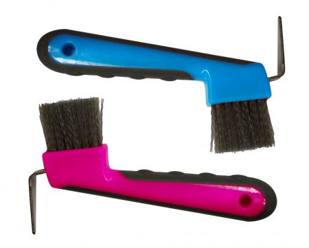 Soft Grip Hoof Pick With Brush