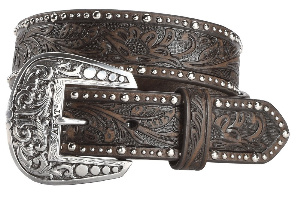 Ariat Women's Leather Embossed Inlay Western Belt