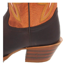Load image into Gallery viewer, Tony Lama Ladies Chocolate Frio 3R Orange Buckaroo Boot 3R2401L