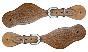 Youth Tooled Spur Straps