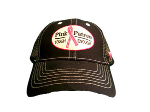 Fast Back Pink Patron Tough Enough Adjustable Ball Cap Mesh Back