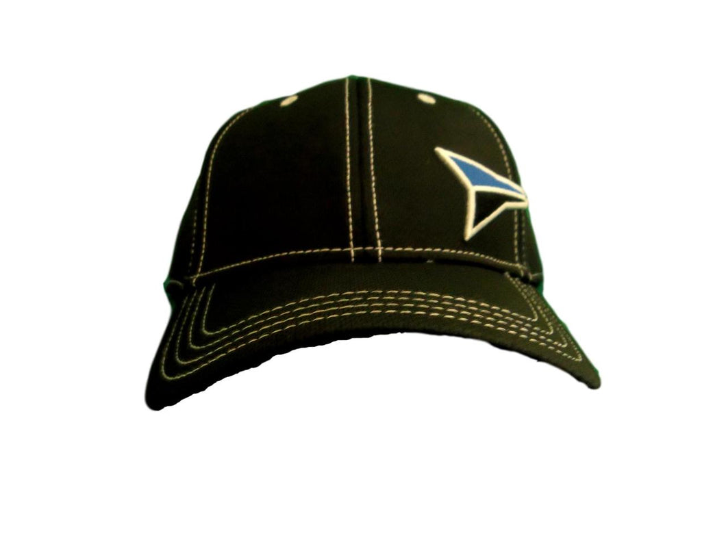 Fast Back Black Sport Mesh w/Blue Logo Fitted Ball Cap