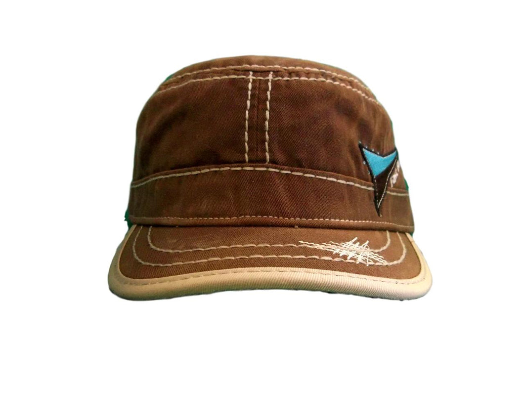 Fast Back Brown w/ Turquoise Flat Top Cap