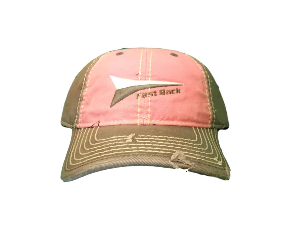 Fast Back Pink Grey Adjustable Ball Cap