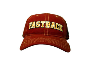 Fast Back Burgundy Collegiate Adjustable Ball Cap