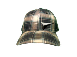 Fast Back Blue Plaid Fitted Ball Cap