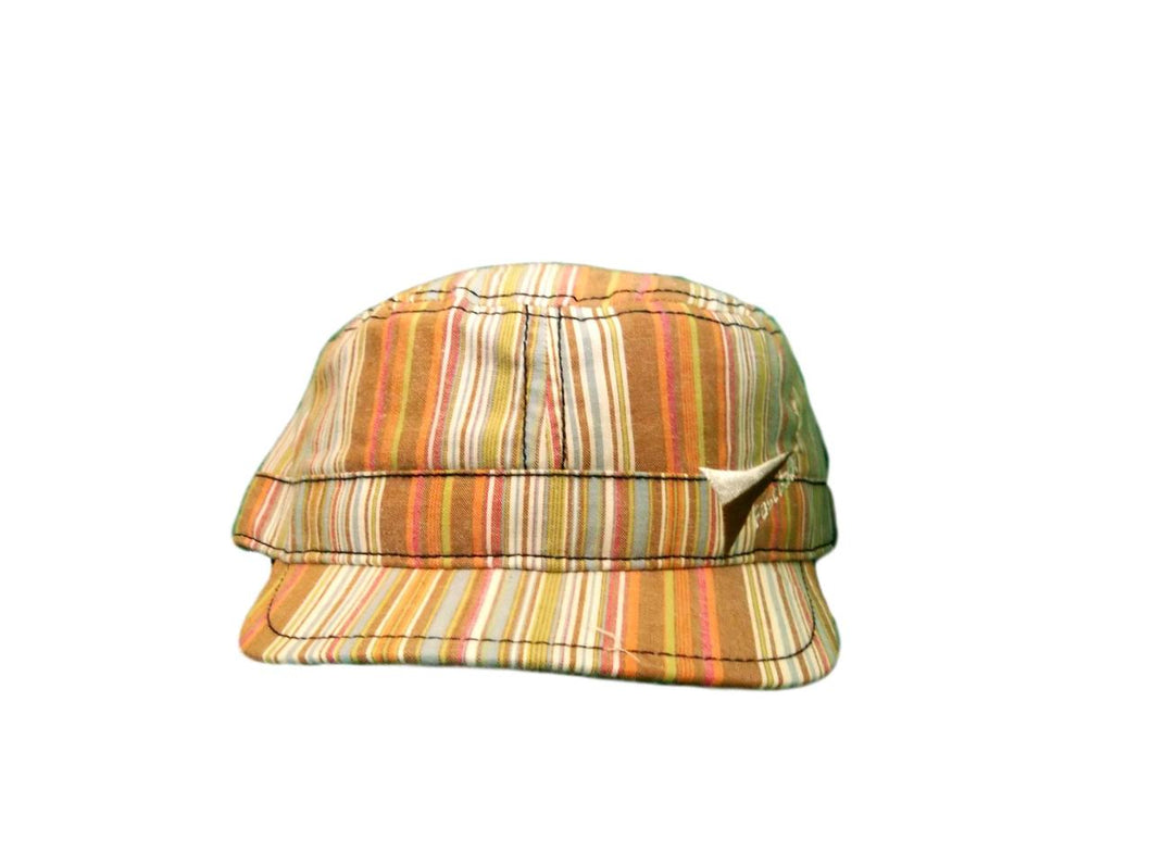 Fast Back Multi Stripe Flat Top Cap