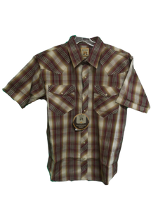 Resistol Double R Men's Dry Valley Snap Short Sleeve Western Shirt
