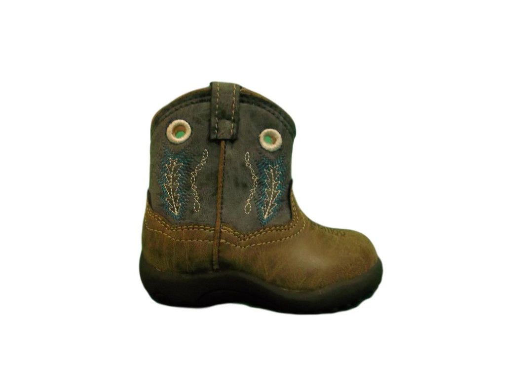 Roper Boys Infants Blue Faux Leather Hole In The Wall Cowboy Boots