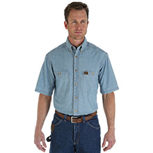 Load image into Gallery viewer, Wrangler Riggs Workwear Blue Short Sleeve Shirt