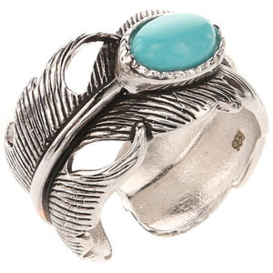 Montana Silversmith Turquoise Feather Ring