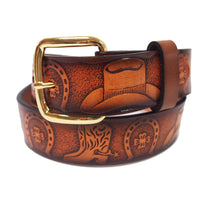 Load image into Gallery viewer, Western Tooled Kids Belt