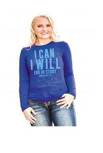 Cowgirl Tuff I Can, I Will Performance Shirt