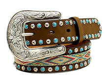 Load image into Gallery viewer, Girls Stitched Inlay Belt