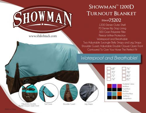 1200D Waterproof Turnout Blanket