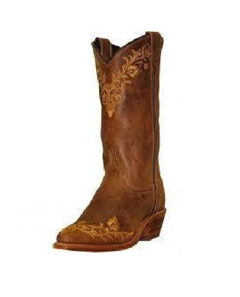 Abilene Women's Tan Embroidered Cowboy Boot 9008