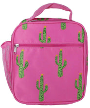 Load image into Gallery viewer, Cactus Print Square Lunch Bag