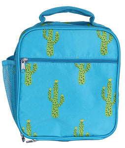 Cactus Print Square Lunch Bag