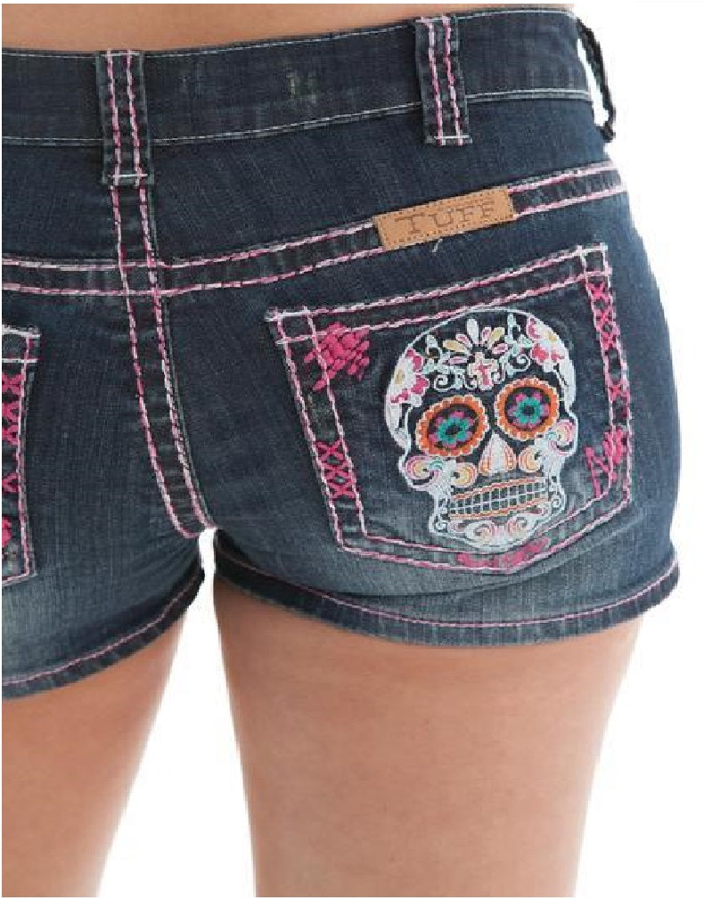 Cowgirl Tuff Sugar Skull Shorts - Aces & Eights Western Wear, Inc.