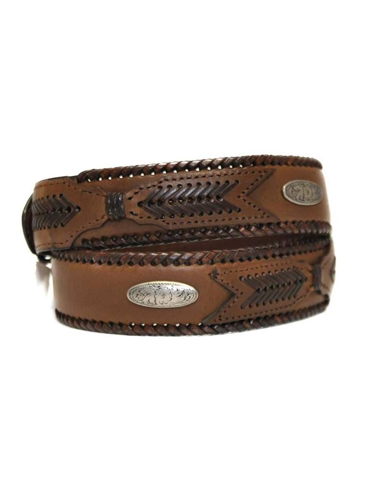 G-D Western Outfitters Men's Leather Laced Belt