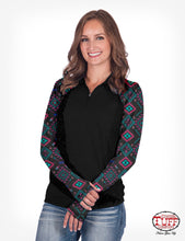 Load image into Gallery viewer, Cowgirl Tuff Aztec 1/4 Zipper Shirt