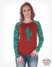 Load image into Gallery viewer, Cowgirl Tuff Aztec & Cactus Shirt