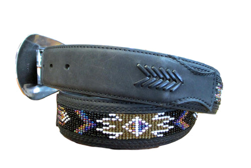Roper Black Beaded Belt #8580500