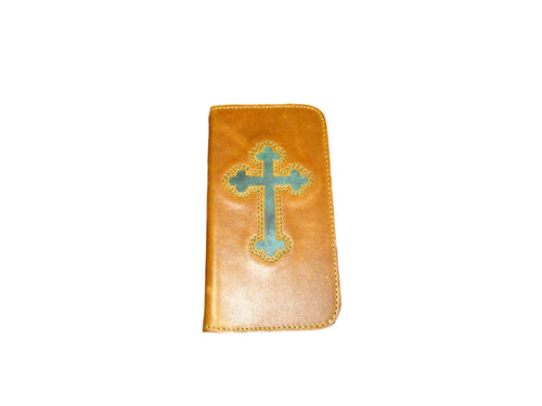 3D Leather Cross Wallet Galaxy S5 Phone Case