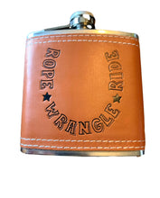 Load image into Gallery viewer, Leather Wrapped Flasks