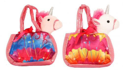 Standing Plush Unicorn with purse