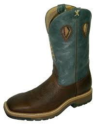 Twisted X Men's Pull-on Cowboy Work Boot Steel Toe MLCS006 13EE
