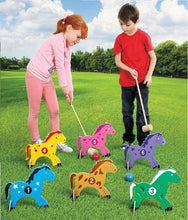 Load image into Gallery viewer, 10 Piece All Wood Pony Croquet Set