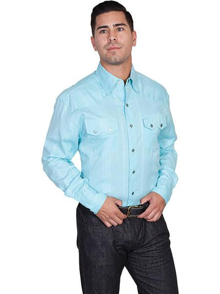 Scully Turquoise Men's Long Sleeve Shirt