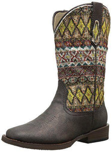Roper Aztec Metallic Square Toe Bling Cowgirl Boot