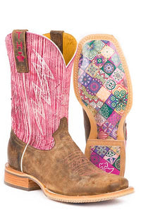 Tin Haul Women's Light & Bright Boots Mosaic Sole Size 8