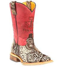 Load image into Gallery viewer, Kids Tin Haul Paisley Rocks Boots With Paisley Sole Handcrafted