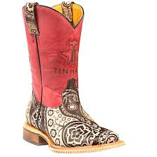 Kids Tin Haul Paisley Rocks Boots With Paisley Sole Handcrafted