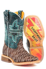 Load image into Gallery viewer, Tin Haul Boys' Thunderbolt Cowboy Boots - Square Toe