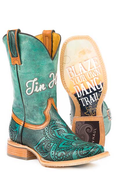 Tin Haul Women's Paisley Too Boots Blazing Trail Sole