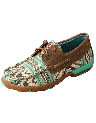 Twisted X Women's Multicolored Canvas Boat Driving Moc
