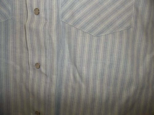 Blue & Teal Stripe Short Sleeve Pearl Snap Shirt