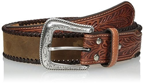 Nocona Natural Belt w/wrapped edging